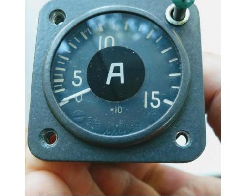 Амперметр АФ1-150 «К» (Витебск) под красный свет.